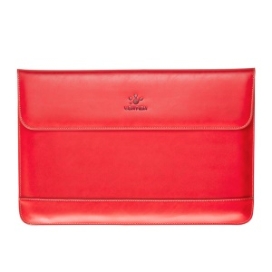 LENTION Genuine Leather Carry Bag for MacBook Pro 15.4 inch with Retina Display - Red