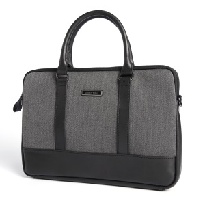 GEARMAX British Style Genuine Leather Laptop Sleeve Bag for Macbook Air Pro 13.3-inch - Grey