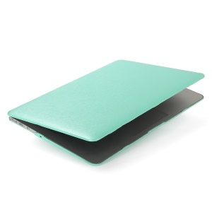 Snap-on Silk Leather Coated Hard Shell for MacBook Air 13.3-inch - Cyan