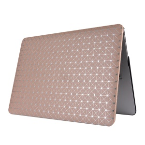 Shiny Dots Grids PU Leather Coated PC Cover for MacBook Pro 13.3 with Retina Display - Gold