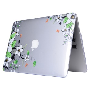 Patterned Clear Hard PC Case for Apple MacBook Pro 13.3 Inch - Beautiful Flower