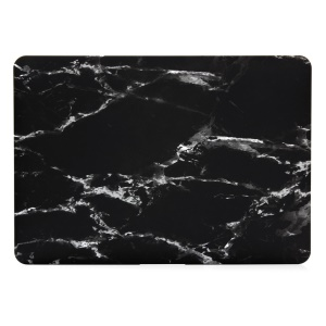 Marble Texture Hard Plastic Case for Apple MacBook Pro 13.3 Inch - White / Black
