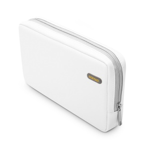 POFOKO Martin Series PU Leather Carrying Bag for Tablet/Hard Disk/Mouse etc - White / L Size