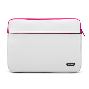 BAFEWLD Carmen Series for MacBook Pro 15.4 Retina PU Leather Laptop Sleeve Case - Rose / White