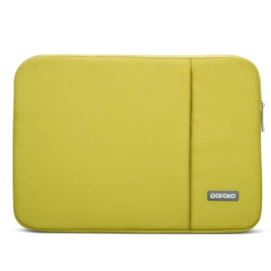 POFOKO Oscar Series 15.6-inch Oxford Cloth Laptop Sleeve Pouch Bag with Pocket - Green