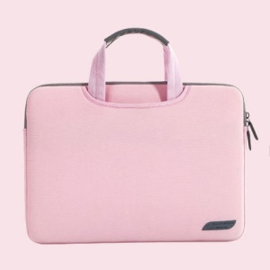 Durable Laptop Sleeve Bag Case Briefcase Handlebag Pouch for 13.3-inch MacBook Air Pro - Pink