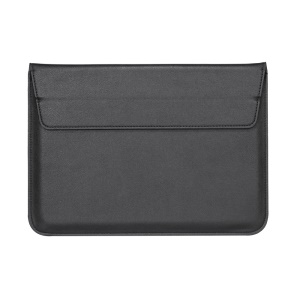 Envelop Style Leather Sleeve Pouch for Apple MacBook 12-inch/Air 11.6-inch - Black