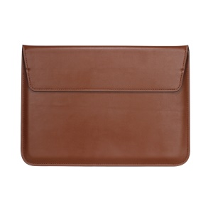 Envelop Leather Laptop Sleeve Cover with Stand for MacBook 12-inch/Air 11.6-inch - Brown