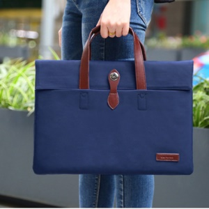 CARTINOE Sobresaliente Portafolios de la Serie Carrying Bag for 13.3-MacBook / iPad Pro 12.9 pulgadas - oscuro azul