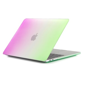 Two-piece Gradient Color Hard Case for MacBook Pro 13 inch 2016 A1706/A1708 - Rose / Green