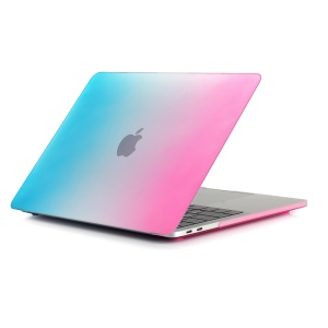 Two-piece Gradient Color PC Cover for MacBook Pro 13 inch (2016) A1706/A1708 - Peach Red / Blue