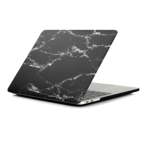 Patterned Hard Protective Case for MacBook Pro 13 inch 2016 A1706/A1708 - Marble Texture / Black