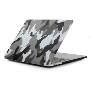 Patterned Hard Protective Case for MacBook Pro 13 inch 2016 A1706/A1708 - Camouflage Pattern / Grey