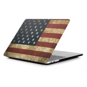 Patterned Hard Protective Case for MacBook Pro 13 inch 2016 A1706/A1708 - American Flag