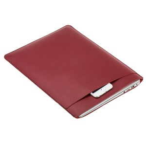 SOYAN Leather Laptop Sleeve Pouch for MacBook 12-inch with Retina Display (2015) - Red