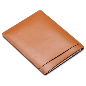 SOYAN Crazy Horse Leather Pouch Cover for MacBook 12-inch with Retina Display (2015) - Brown