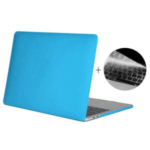HAT PRINCE Matte Plastic Cover for Macbook Pro 13-inch 2016 with Touch Bar (A1706) + US Version TPU Keyboard Film - Baby Blue