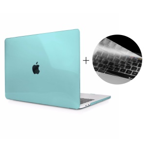 HAT PRINCE Clear Snap-on Hard Shell + Keyboard Guard for 2016 MacBook Pro 13-inch without Touch Bar A1708 - Cyan