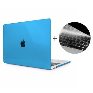 HAT PRINCE Hard Clear Case + US Version TPU Keyboard Protector for Macbook Pro 13-inch 2016 with Touch Bar (A1706) - Blue