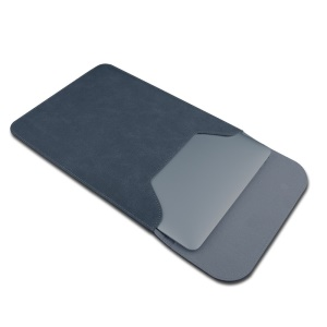 SOYAN Magnetic PU Leather Sleeve Pouch for MacBook 12-inch A1534 - Dark Grey