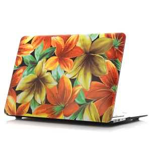 Oil Painting Pattern Hard PC Phone Shell for Macbook Air 13.3 Inch (A1369/A1466) - 5-Petal Flower