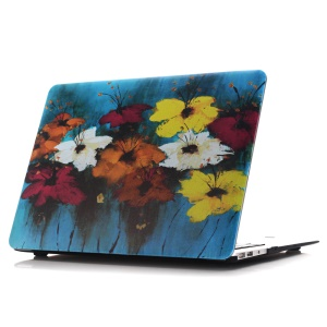 Oil Painting Pattern Hard PC Phone Casing for Macbook Air 13.3 Inch (A1369/A1466) - Colorful Blossom