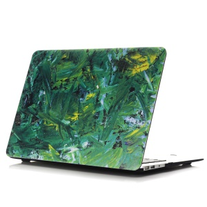 Oil Painting Pattern Hard PC Cell Phone Case for Macbook Air 13.3 Inch (A1369/A1466) - Green Color Paint Background