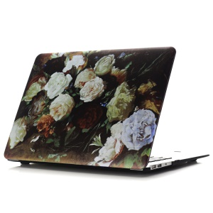 Oil Painting Pattern Hard PC Mobile Phone Case for Macbook Air 13.3 Inch (A1369/A1466) - Camellia