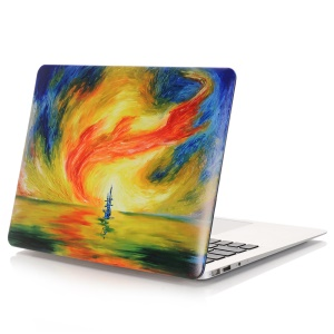 Oil Painting Pattern Hard Plastic Accessory Case for Macbook Air 13.3 Inch (A1369/A1466) - Abstract Seascape