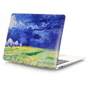 Oil Painting Pattern Tough PC Protective Cover for Macbook Air 13.3 Inch (A1369/A1466) - Wheatfields under Thunderclouds
