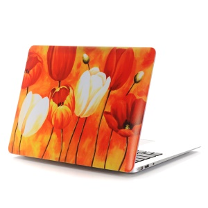 Oil Painting Pattern Hard Mobile Phone Protector Case for Macbook Air 13.3 Inch (A1369/A1466) - Bright Flowers