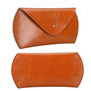 SOYAN PU Leather Mouse Pouch Bag for Apple Magic Mouse - Light Brown