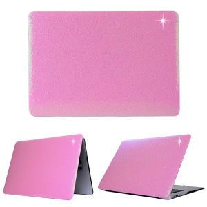 Shimmering Sequins Leather Coated Hard Cover Case for Macbook Pro 13.3 Inch - Pink