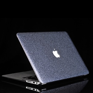Glittery Leather Coated Hard Shell Case for MacBook Air 13.3-inch A1369 A1466 - Blue