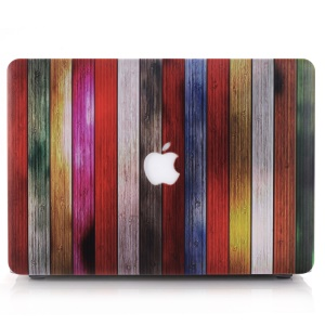 Colorful Wood Strips Plastic Case for MacBook Pro 13.3-inch with Retina Display A1425 A1502
