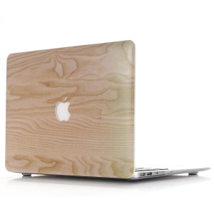 Wood Texture Snap-on Hard Case for MacBook Pro 13.3-inch with Retina Display A1425 A1502 - Beige