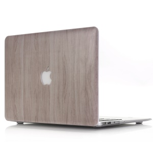 Wood Texture Plastic Hard Case for MacBook Air 13.3-inch A1369 A1466 - Light Grey