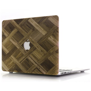 Braided Wood Texture Snap-on Hard Shell for MacBook Air 13.3-inch A1369 A1466 - Brown