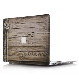 Wood Strips Plastic Shell Case Cover for MacBook Air 13.3-inch A1369 A1466