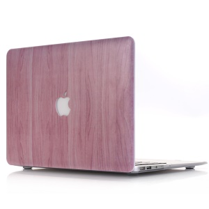 Snap-on Wood Texture Hard Plastic Cover for MacBook Air 13.3-inch A1369 A1466 - Pink