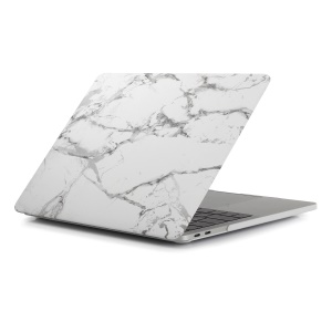 Pattern Printing Hard PC Protective Case for Macbook Pro 15.4-inch 2016 with Touch Bar (A1707) - Marble Grain / Dark Grey