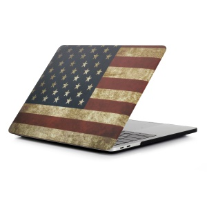 Patterned Hard Plastic Case Protector for Macbook Pro 15.4-inch 2016 with Touch Bar (A1707) - American Flag
