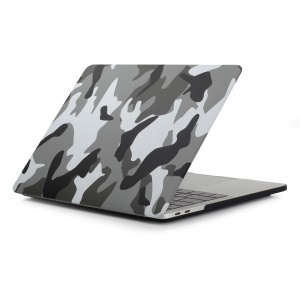 Pattern Printing Hard Plastic Protective Case for Macbook Pro 15.4-inch 2016 with Touch Bar (A1707) - Camouflage Pattern / Grey