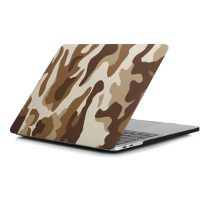 Patterned Hard PC Case Protector for Macbook Pro 15.4-inch 2016 with Touch Bar (A1707) - Camouflage Pattern / Brown