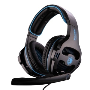 SADES SA-810 Professional Over-Ear Gaming Headphone Headset with Mic - Black