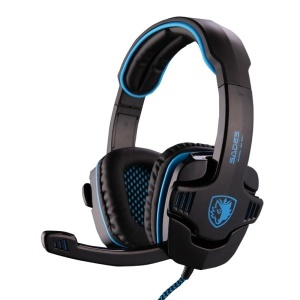 SADES SA-901 Stereo 7.1 Surround Gaming Headphone USB Over-Ear Headset with Mic - Blue