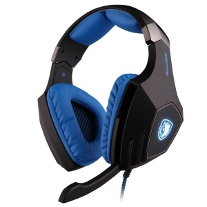 SADES A-60 7.1Channel Dual Shock Over-Ear USB Gaming Headphone with Mic - Black