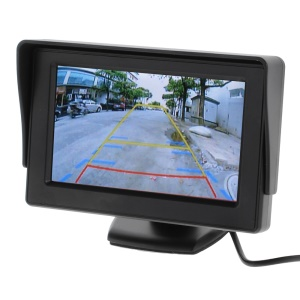 4.3-inch 3W TFT LCD Digital Car Rear View Camera Monitor w/ Stand JSD-4521