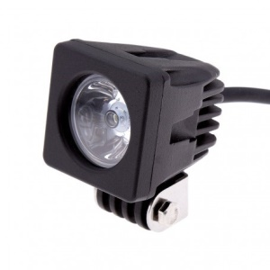 2-inch 10W 900LM Square CREE Motorcycle Mini Offroad LED Light (RLD-10WS-F) - Flood Beam