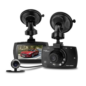G30B Dual Camera 2.7-inch 1080P+480P Car DVR Camcorder 140-degree Wide Angle Loop Recording